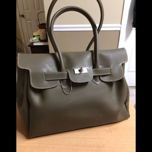 """Jelly Bag made ITALY Brown """"BIG"""" Satchel"""